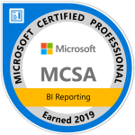 Microsoft MCSA BI Reporting 2019 certification batch